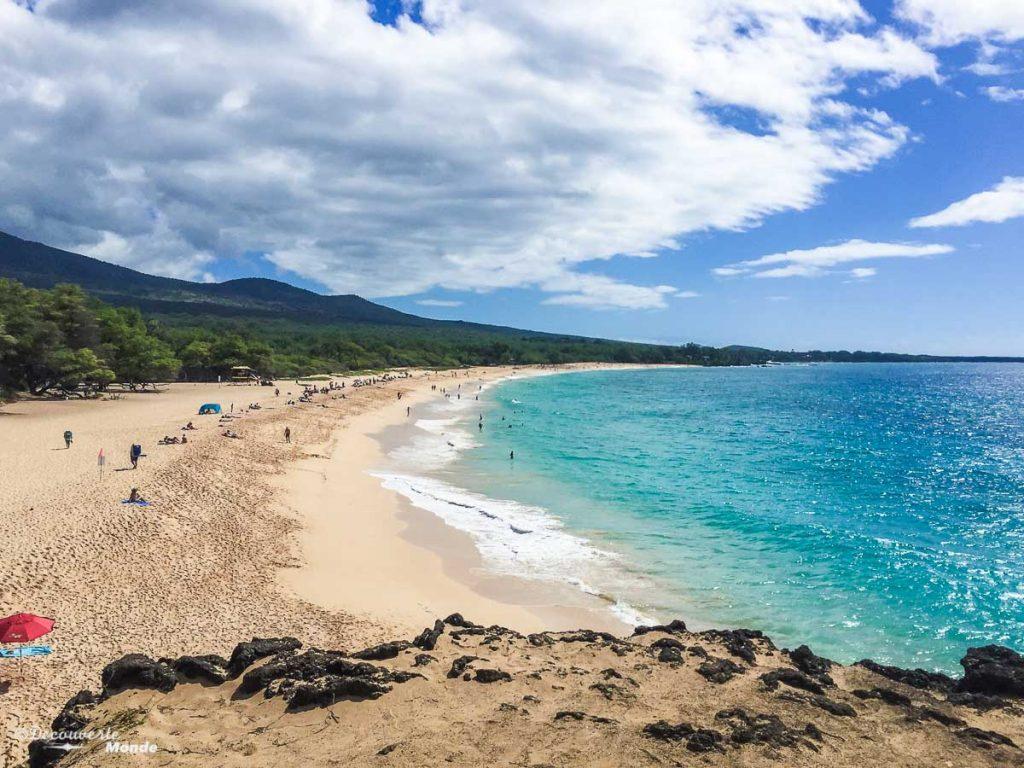 Plage de Big Beach à Maui dans mon article Maui à Hawaii : Que faire en 10 jours de road trip sur l'île de Maui #maui #hawaii #hawai #etatsunis #usa #voyage #plage