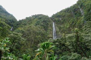 Chute sur la Pipiwai trail sur la Hana Road à Maui à Hawaii dans mon article Maui à Hawaii : Que faire en 10 jours de road trip sur l'île de Maui #maui #hawaii #hawai #etatsunis #usa #voyage #hanaroad #chute