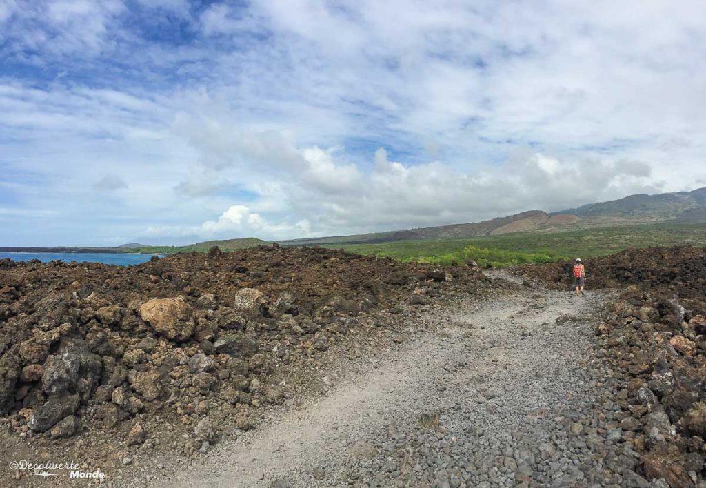 Randonnée dans un champ de lave à Perouse Bay à Maui dans mon article Maui à Hawaii : Que faire en 10 jours de road trip sur l'île de Maui #maui #hawaii #hawai #etatsunis #usa #voyage