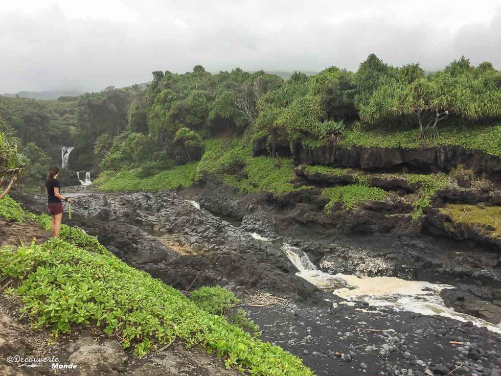 Les 7 sacred pools sur la Pipiwai trail sur la Hana Road à Maui à Hawaii dans mon article Maui à Hawaii : Que faire en 10 jours de road trip sur l'île de Maui #maui #hawaii #hawai #etatsunis #usa #voyage #hanaroad #chute