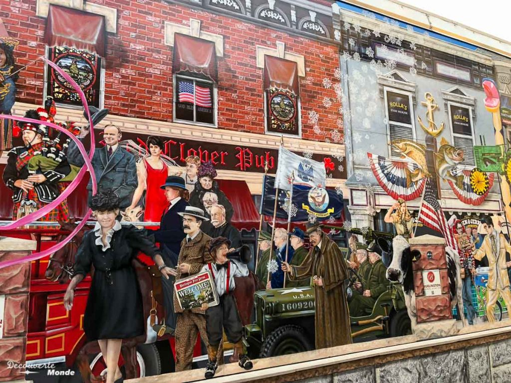 Fresque historique près de Church street à Burlington dans mon article Burlington aux USA : Quoi faire à Burlington au Vermont en un week-end #burlington #vermont #usa #etats-unis