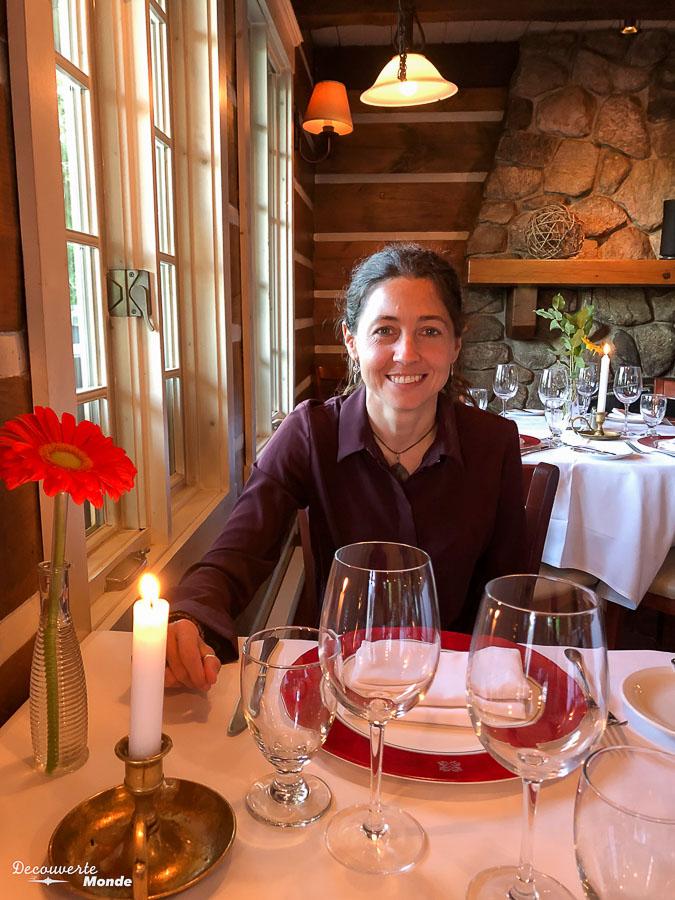 Au restaurant Patrick Bermand de Mont-Tremblant dans mon article Mon voyage au Mont-Tremblant en bus : Visiter Mont-Tremblant sans voiture #monttremblant #tremblant #laurentides #quebec #quebecoriginal #experiencebusbud