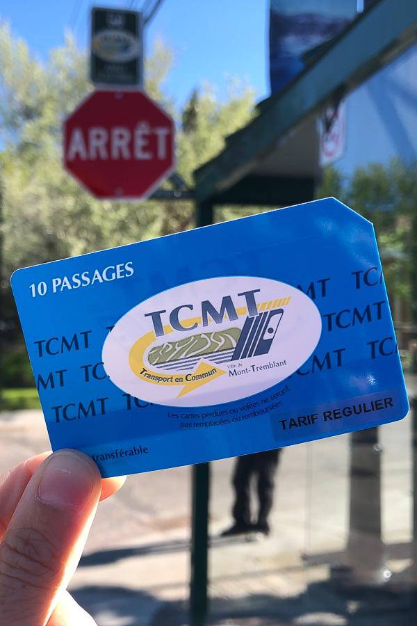 La carte de l'autobus public de Mont-Tremblant dans mon article Mon voyage au Mont-Tremblant en bus : Visiter Mont-Tremblant sans voiture #monttremblant #tremblant #laurentides #quebec #quebecoriginal #experiencebusbud #bus #tcmt