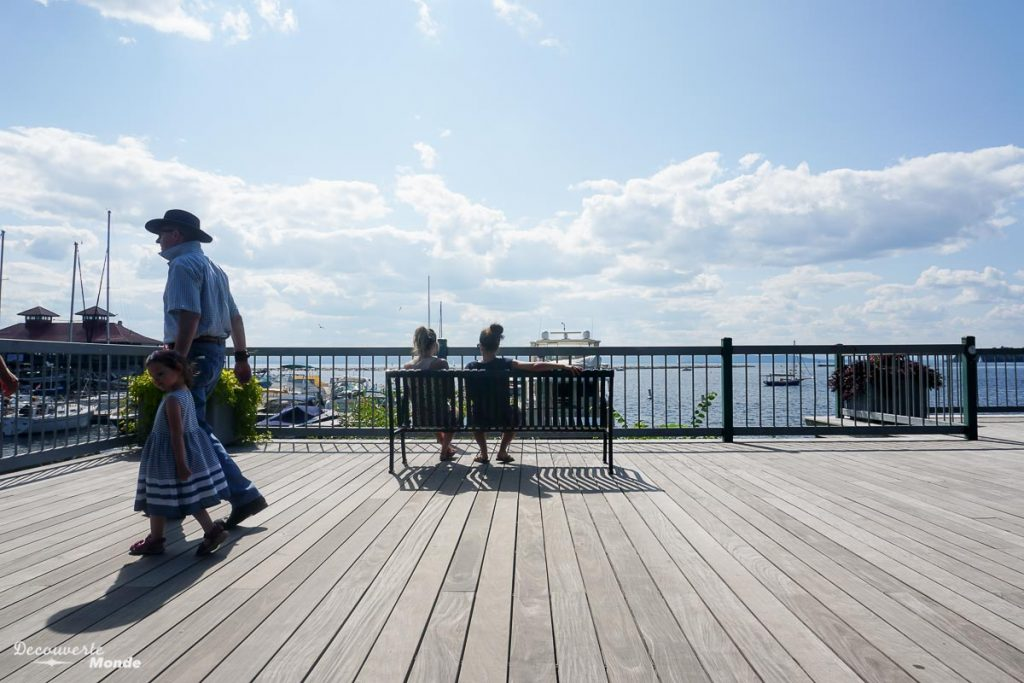 Boardwalk sur le Waterfront Park à Burlington dans mon article Burlington aux USA : Quoi faire à Burlington au Vermont en un week-end #burlington #vermont #usa #etats-unis #waterfront