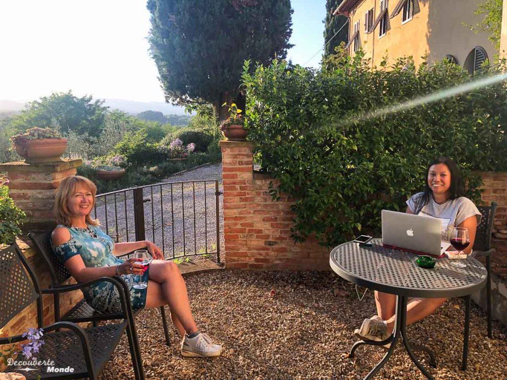 Avantage échange de maison, accès à une terrasse dans mon article Voyager pas cher en Italie avec l'échange de maison : Mon avis HomeExchange #homeexchange #echangedemaison #voyage #italie #voyagerpascher #hebergement
