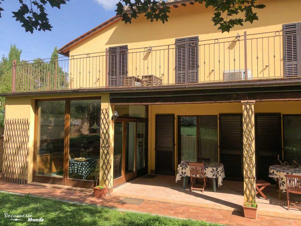Notre échange de maison en Toscane, une manière de voyager pas cher en Italie dans mon article Voyager pas cher en Italie avec l'échange de maison : Mon avis HomeExchange #homeexchange #echangedemaison #voyage #italie #voyagerpascher #hebergement