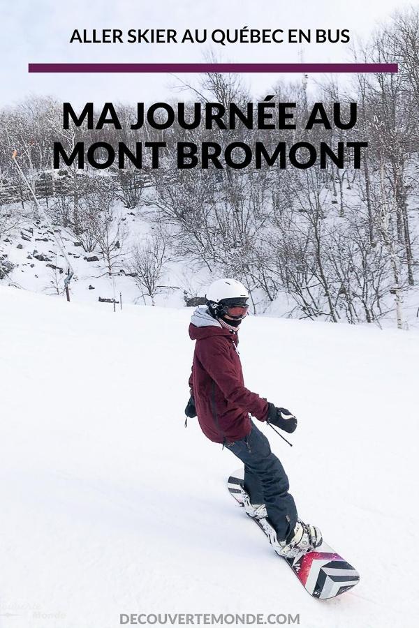 En snowboard au sommet du Mont Bromont dans mon article Mont Bromont en bus : Ma journée sans voiture à la station de ski Bromont | Bromont | Mont Bromont | station de ski Bromont | Cantons-de-l'Est | skier au Québec en bus | Busbud | Montréal-Bromont en bus | Mont Bromont en bus | Québec | #Bromont #ski #skimontbromont #montbromont #montagne #snowboard #cantonsdelest #experiencebusbud #quebec #canada