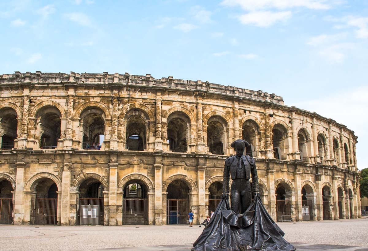 Les Arènes de Nîmes dans le Gard en région Occitanie dans mon article La région Occitanie en France en 12 incontournables à visiter #occitanie #france #europe #voyage