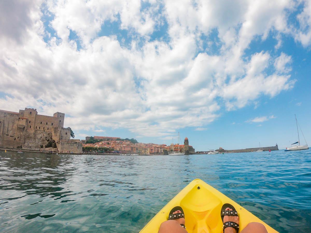 Kayak à Collioure sur la Méditerranée en Occitanie dans mon article La région Occitanie en France en 12 incontournables à visiter #occitanie #france #europe #voyage