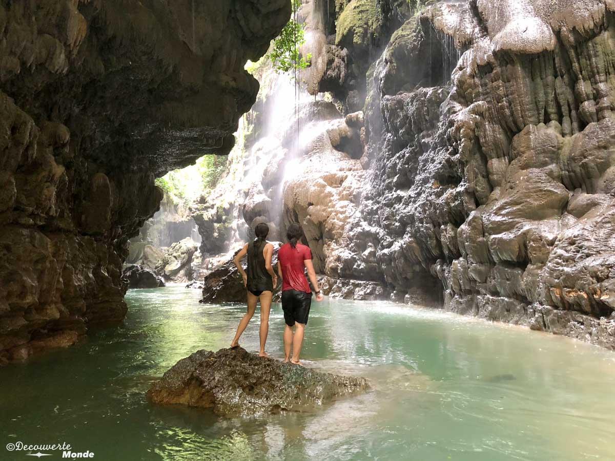 Green Canyon près de Pangandaran dans mon article Que faire à Java, voir et visiter : Mes 10 incontournables #java #indonesie #voyage #asiedusudest #asie #canyon #pangandaran