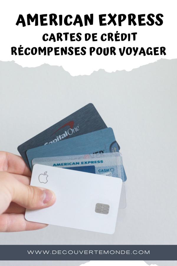 American Express : Excellentes cartes de crédit récompenses pour voyageurs #amex #americanexpress #cartedecredit #recompense #voyage