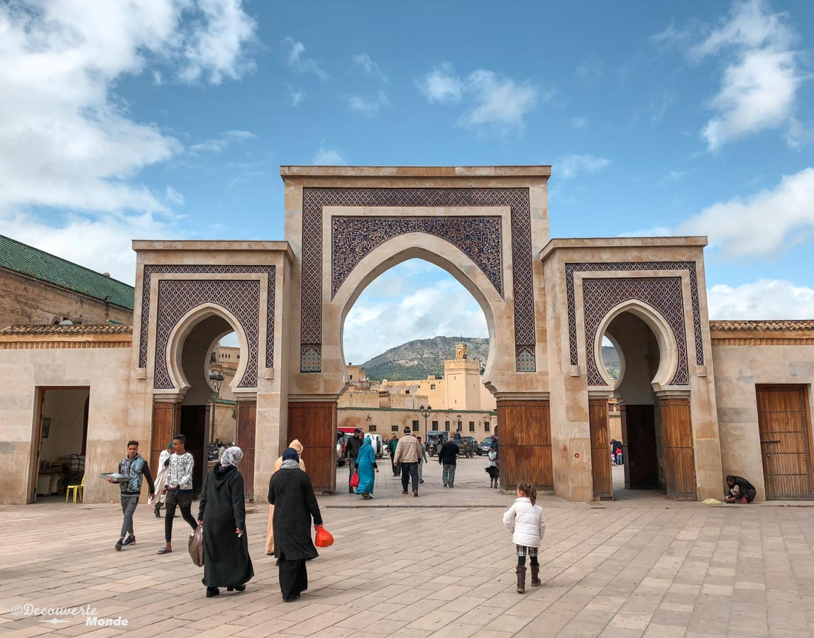 Porte Bab Rcif de la Médina de Fès dans notre article Visiter Fès au Maroc : Découverte de sa vieille-ville, la Médina de Fès #fes #maroc #medina #voyage #maghreb #unesco